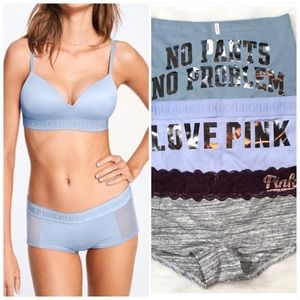 PINK Victoria's Secret Boyshort Boxer Panties Med